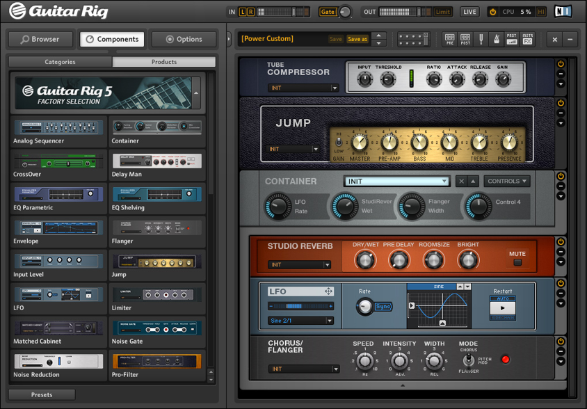 Meload Guitar Rig 5 pada FLstudio