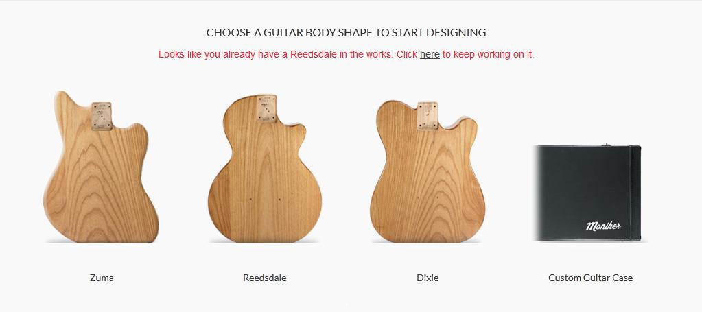 Tempat pesan gitar custom