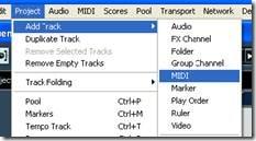 Membuat Track MIDI
