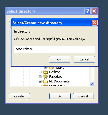 pemberian nama folder nuendo
