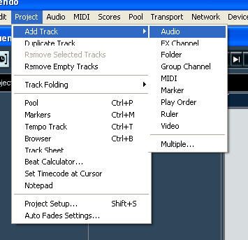 Proses Recording Audio menggunakan Nuendo