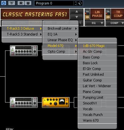 Cara mastering lagu dengan cubase 5. Contoh Preset Mastering dengan T-RackS
