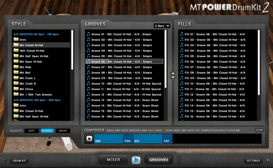 Download Vst drum gratis MT POWER DRUM KIT 2 fills