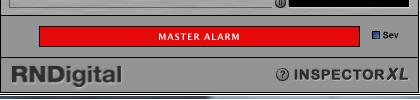 Master Alarm menyala merah berarti sinyal kita amplitudonya terlalu besar PEAK