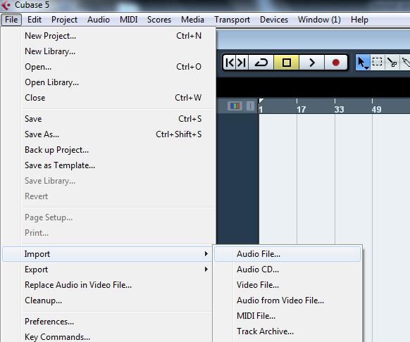 Menginsert data audio