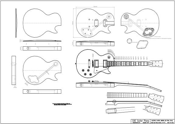 cara membuat gitar elektrik gibson 50's Les Paul