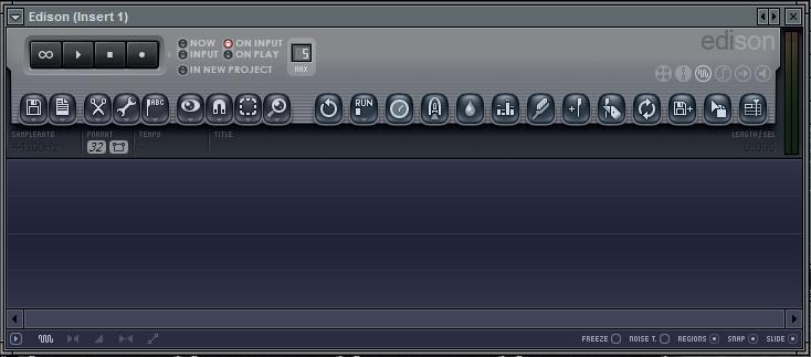 Tampilan Edison pada Insert 1 untuk merekam gitar di fl studio