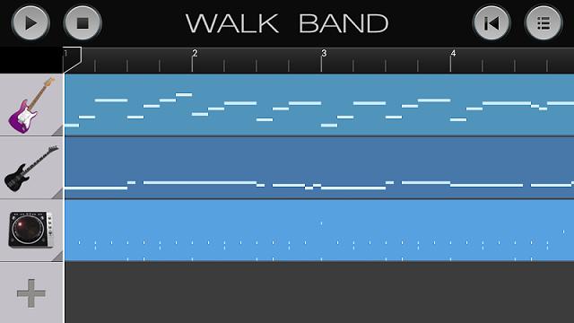 aplikasi android untuk membuat musik digital WALK BAND dengan menggabungkan suara drum, bass, gitar, dan piano maka akan dibuat komposisi musik format band