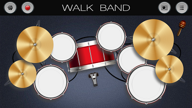 aplikasi android untuk membuat musik digital WALK BAND drum