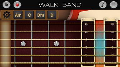 aplikasi android untuk membuat musik digital WALK BAND gitar elektrik
