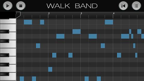 aplikasi android untuk membuat musik digital WALK BAND piano