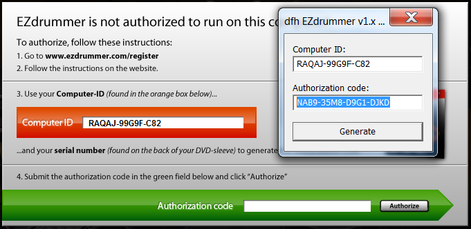 authorize computer id