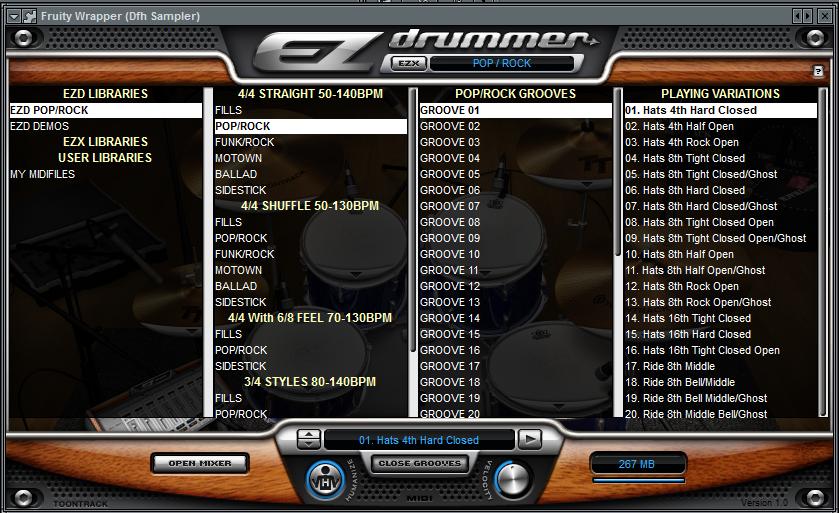 cara menggunakan ez drummer