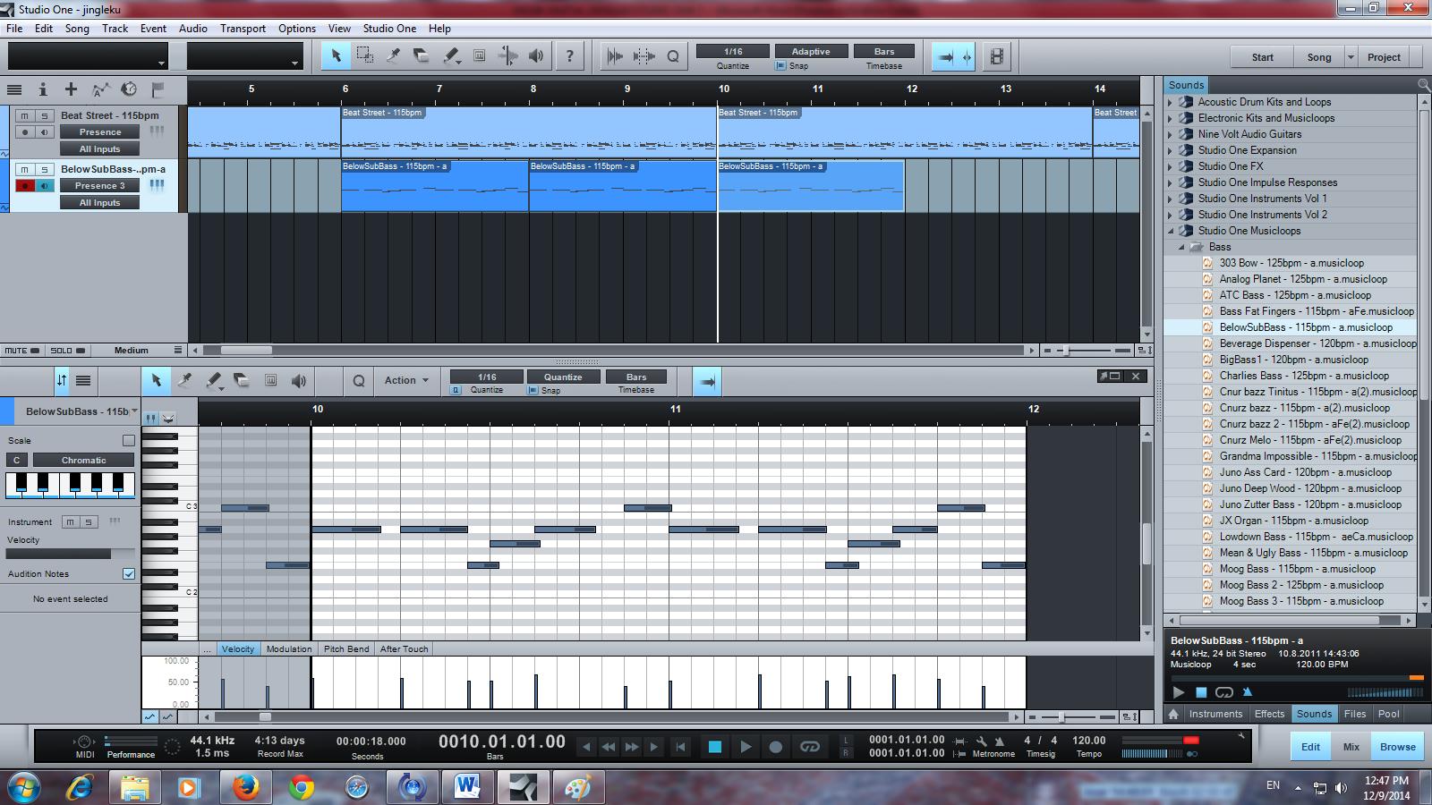 Cara membuat jingle menggunakan studio one