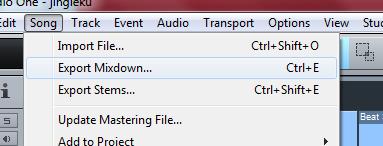 cara melakukan export mixdown lagu