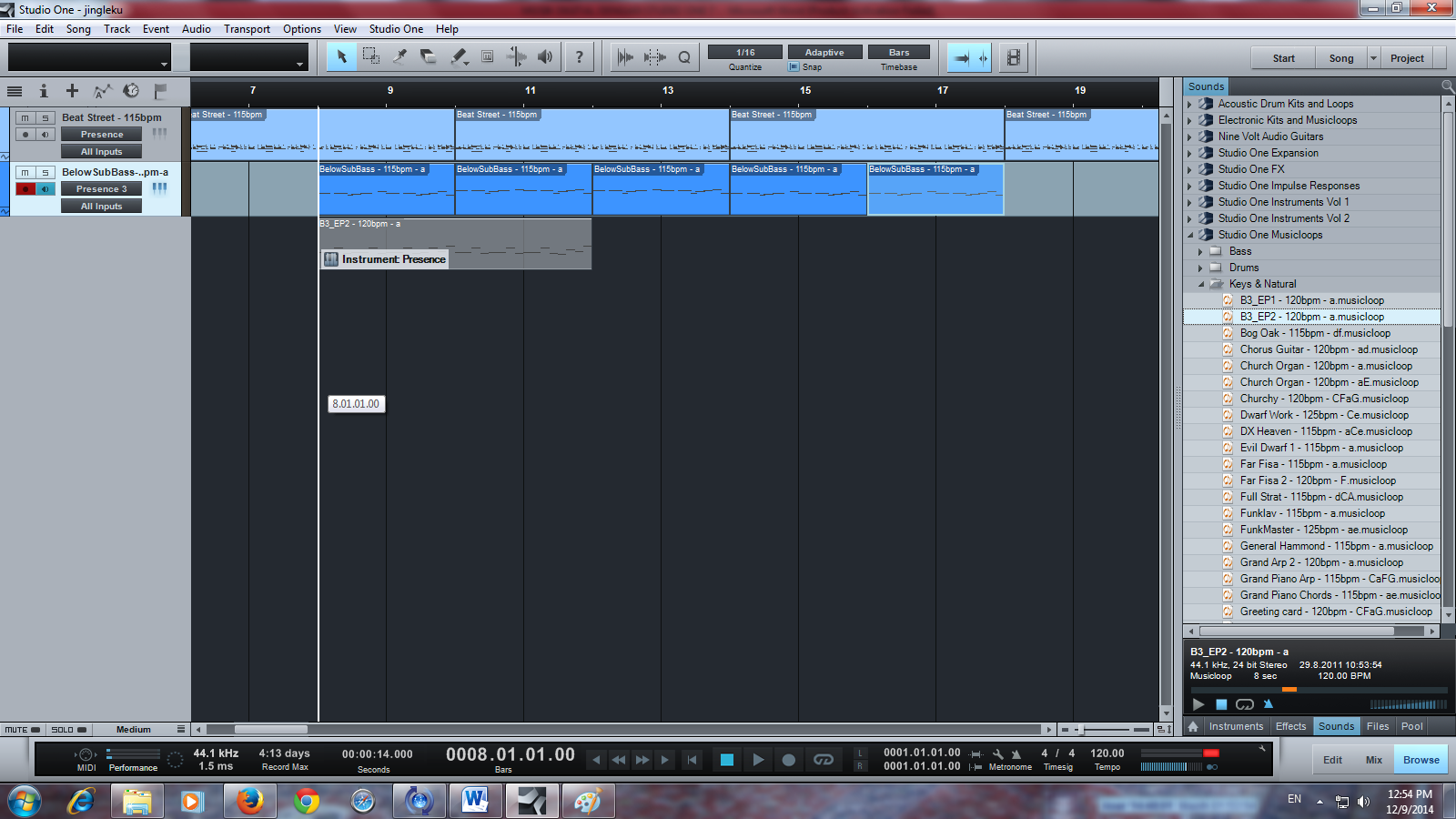cara menambahkan bass pada lagu