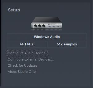 cara menggunakan presonus studio one windows audio samples