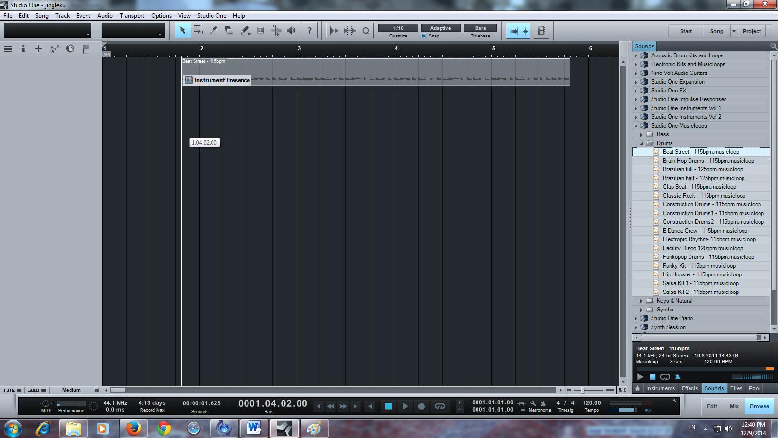 cara merangkai instrument lagu di DAW