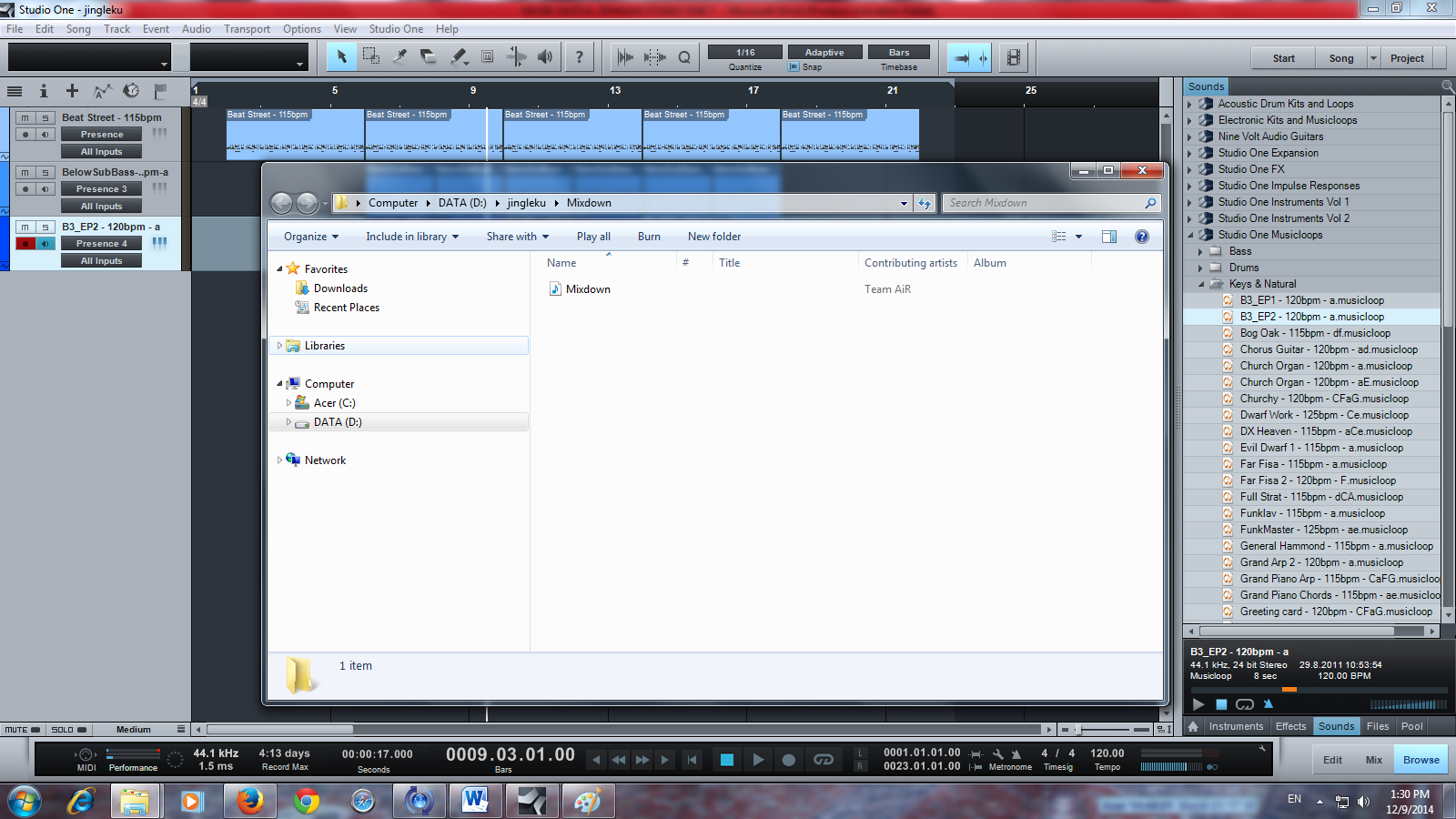 file hasil mixdown