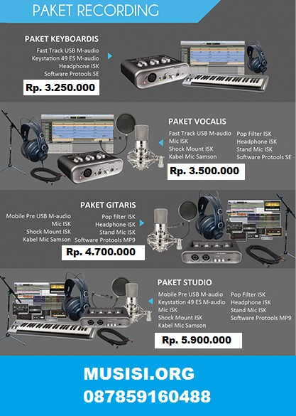 Paket home recording murah M Audio