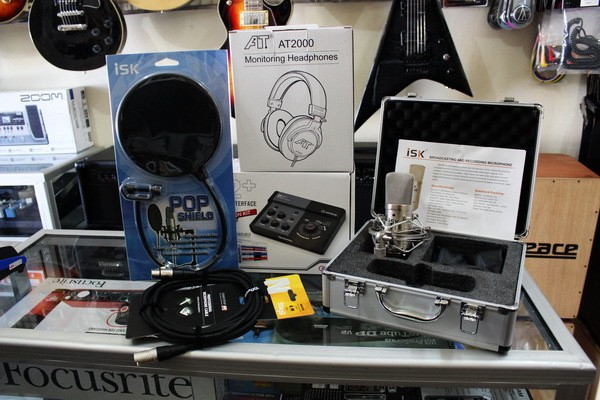 Paket home recording murah dengan Voice Filter Recording Package 1