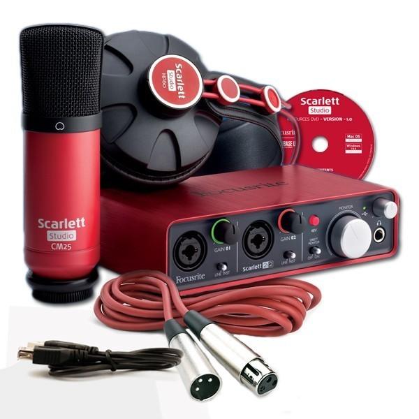 Paket home recording murah focusrite-scarlett-studio