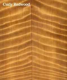 jenis kayu untuk gitar elektrik curly Redwood