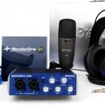 Jual paket alat home recording murah presonus audiobox studio