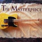 Gitar custom stranough dengan desain mirip gitar fender america