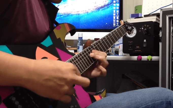 Video cara belajar melodi gitar dream theater metropolis part 1