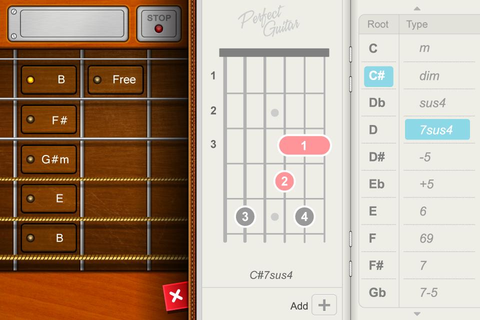 aplikasi android untuk belajar gitar Guitar plus dapat menunjukkan chord progression dan bentuk kunci gitar