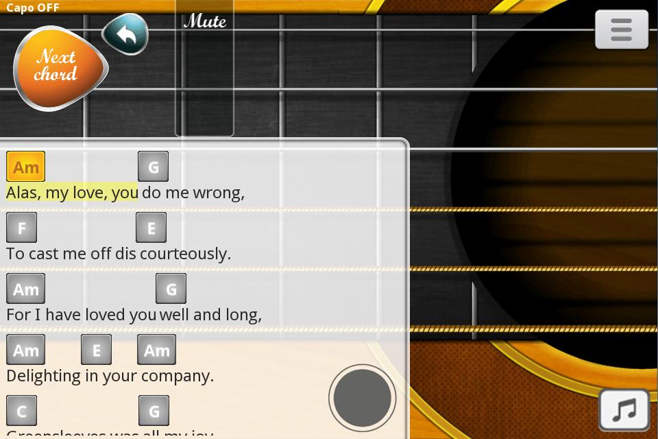 cara belajar memainkan lagu dengan menggunakan aplikasi android untuk belajar gitar