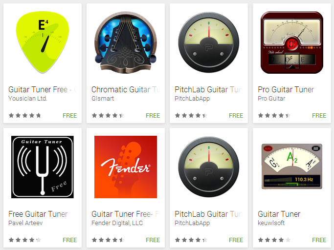Aplikasi Android Untuk Menyetem Senar Gitar