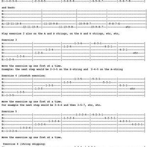 tab gitar untuk melatih speed picking up down
