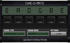 Aplikasi komputer untuk stem gitar Tune-O-Matic
