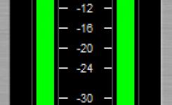 Tampilan meter level pada IXL Multimeter