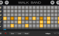 aplikasi android untuk membuat musik digital WALK BAND drum lagi