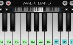 aplikasi android untuk membuat musik digital WALK BAND piano lagi