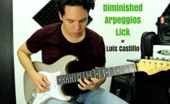 Lick arpegios disminuidos/Guitar Lick diminished arpeggios – Luis Castillo