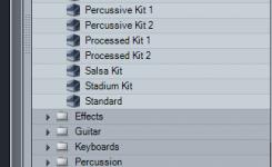 menggunakan drum kits